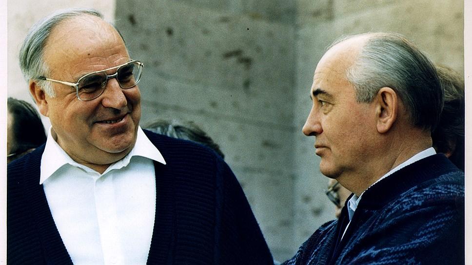 Июль 1990 года. Общение между переговорами — Гельмут Коль и Михаил Горбачев