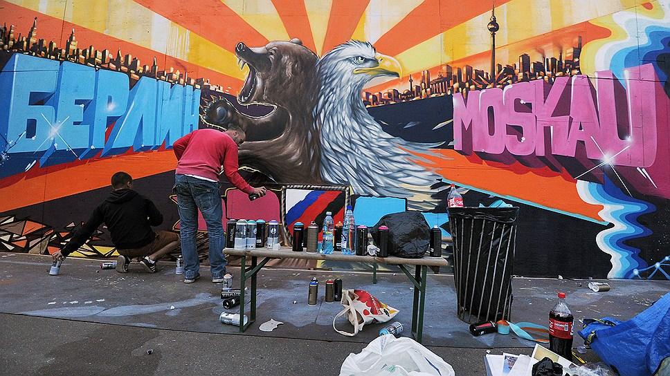 Ни в Берлине, ни в Москве никто не удивится такому граффити