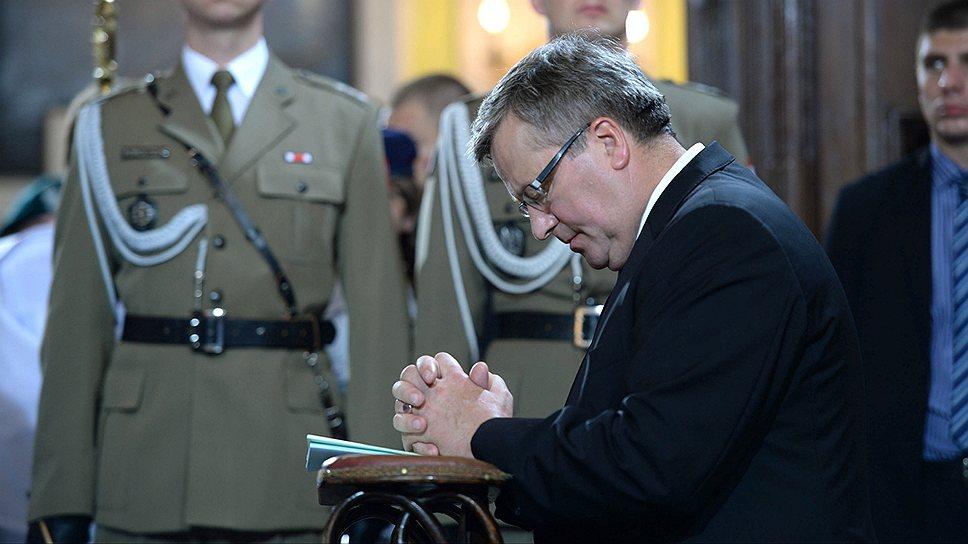 Президент Польши Бронислав Коморовский верит, что украинцы и поляки должны искренне примириться друг с другом