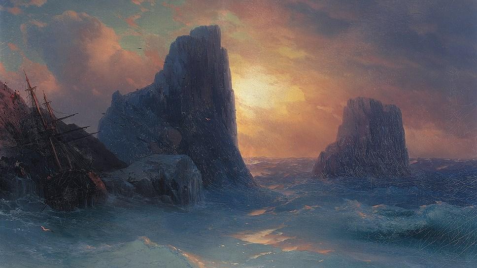 Иван Айвазовский. Кораблекрушение. 1875
