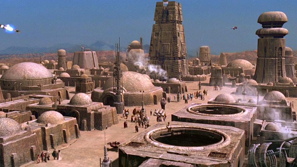 Пейзажи планеты Татуин в киновселенной Джорджа Лукаса «Звездные войны»