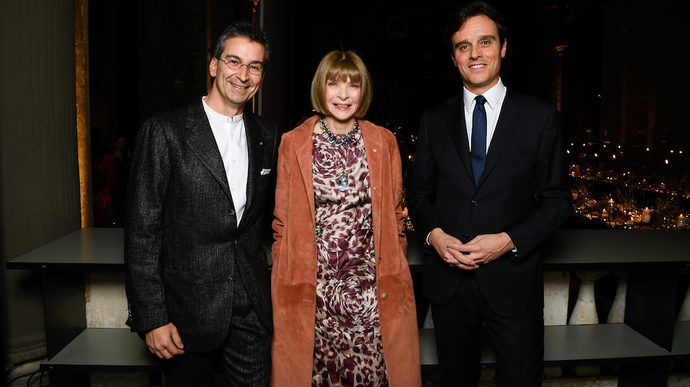 Федерико Маркетти (YOOX), Анна Винтур и Эмануэле Фарнети (Vogue Italia)