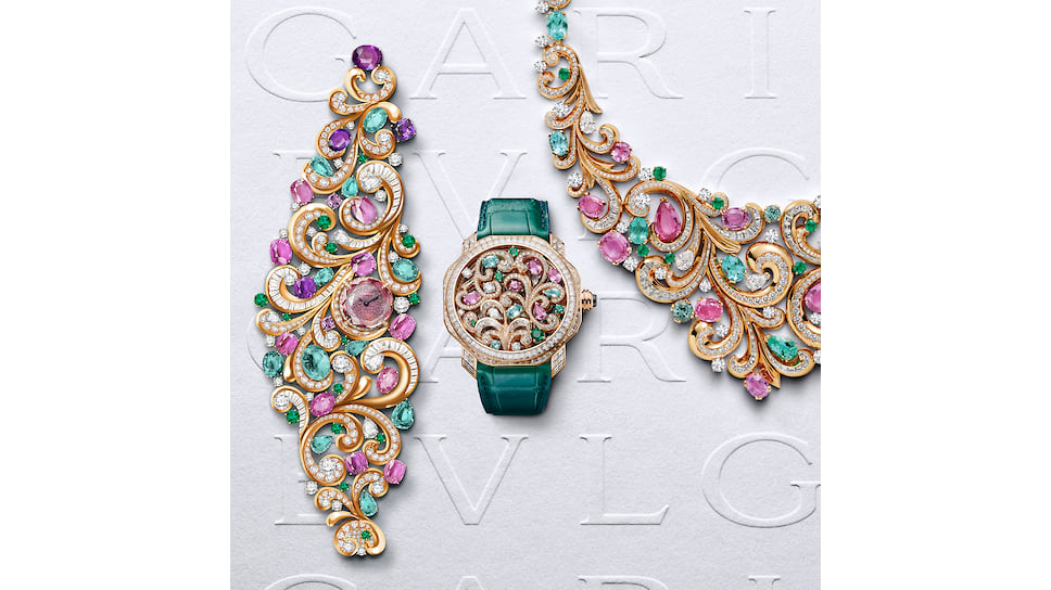 Часы High Jewellery Lady Arabesque, часы Octo Finissimo Tourbillon Arabesque и колье Lady Arabesque