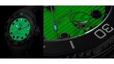 УTAG Heuer вышли часы сполностью люминесцентным циферблатом