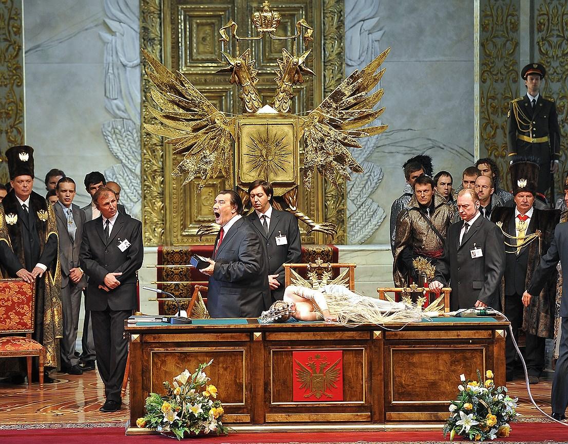 Опера «Золотой петушок» на сцене Государственного академического Большого театра. Постановка К. Серебренникова
