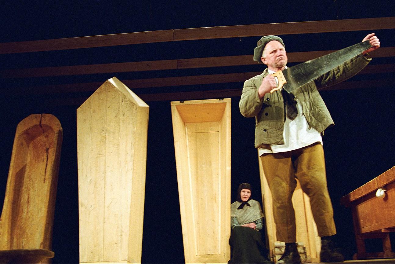 Спектакль «Скрипка Ротшильда» на сцене Московского театра юного зрителя. Постановка К. Гинкаса