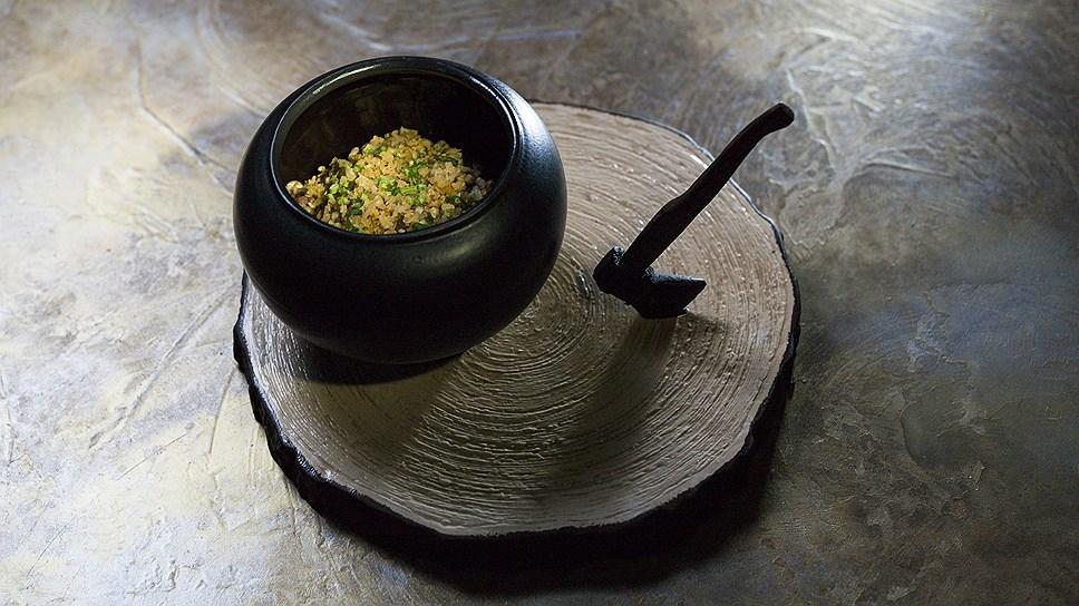 """""""Каша из топора"""" - зеленая гречка с белыми грибами и томлеными говяжьими щечками"""