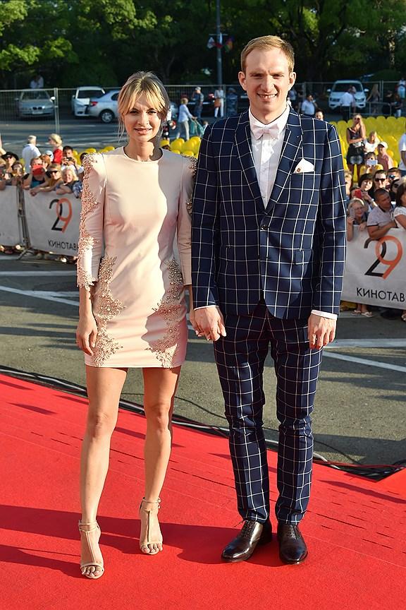 Актер Андрей Бурковский с женой Ольгой