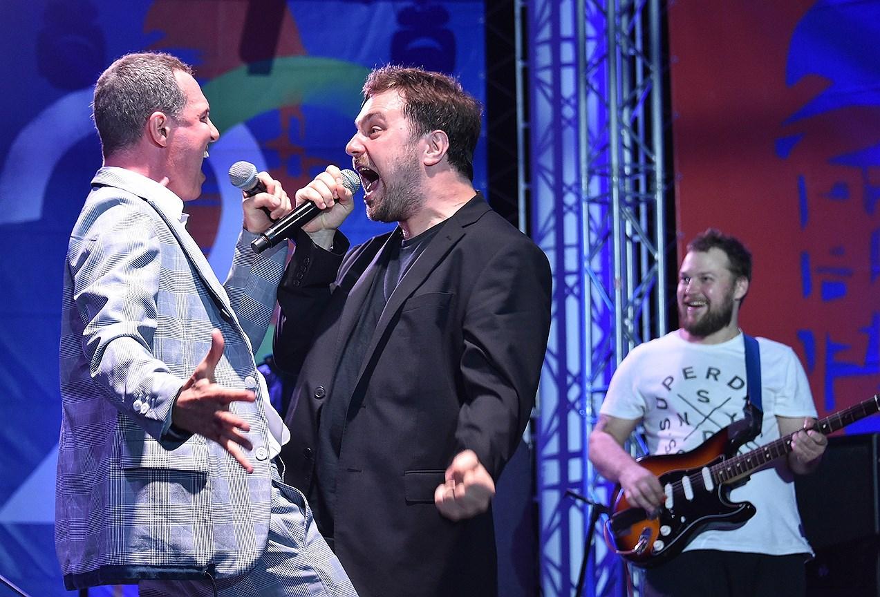 Актер Игорь Верник (слева) и музыкант Василий Зоркий