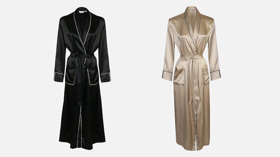Frette, шелковый халат с накладными карманами, 112 500 руб, бутик Frette, ГУМ