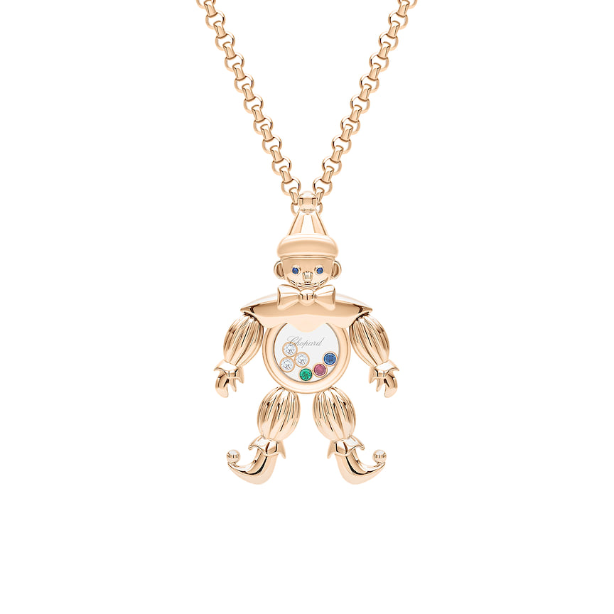 Кулон Chopard, коллекция Happy Diamonds, розовое золото, бриллианты, рубин, сапфир, изумруд, 1 722 200 руб., tsum.ru