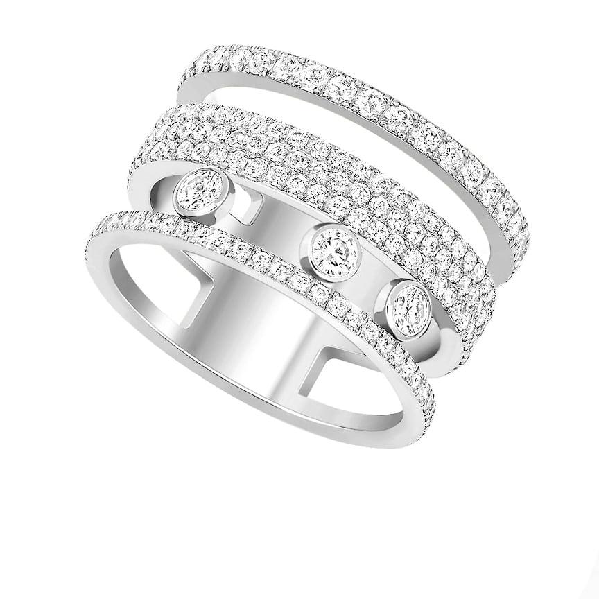 Кольцо Messika, коллекция Move Romane, белое золото, бриллианты, 624 750 руб., tsum.ru