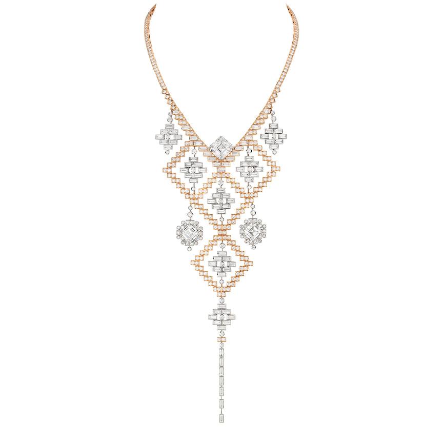 Chanel High Jewelry, колье Eblouissante, белое и розовое золото, бриллианты