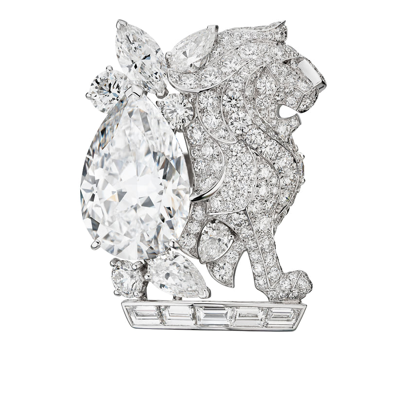Chanel High Jewelry, кольцо Lion Secret, белое золото, бриллианты