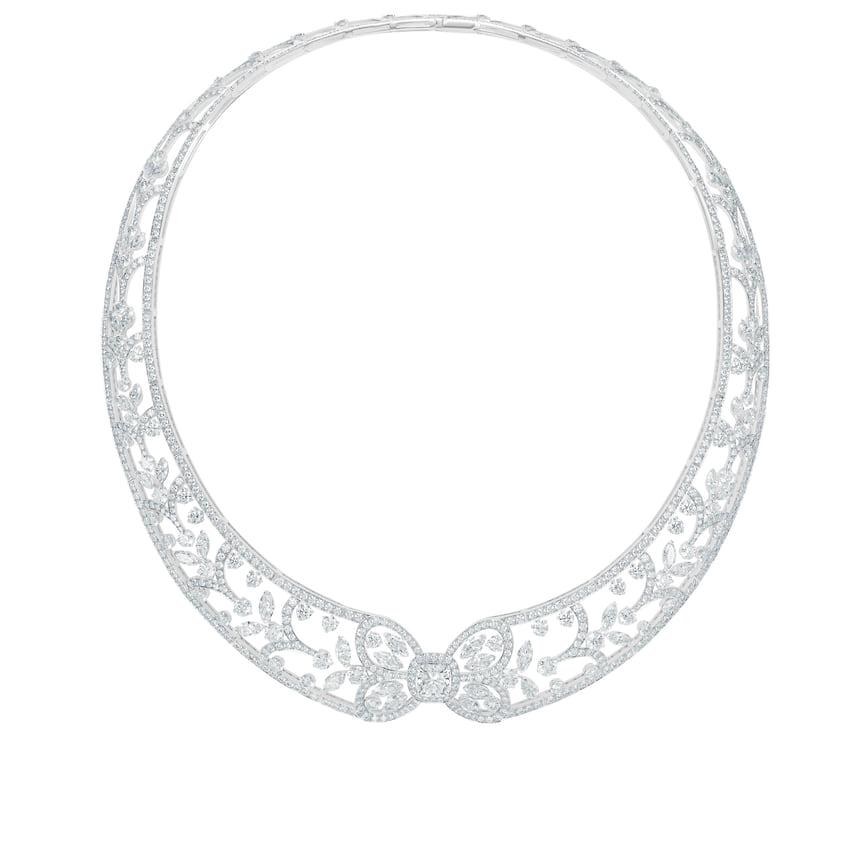 De Beers, колье Elismere Treasure, белое золото, бриллианты