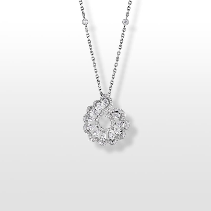 Chopard, подвеска Precious Lace, белое золото, бриллианты