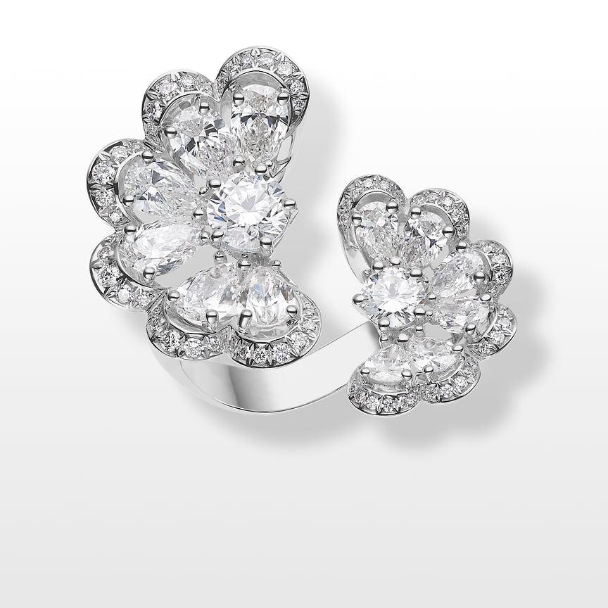 Chopard, кольцо Precious Lace, белое золото, бриллианты