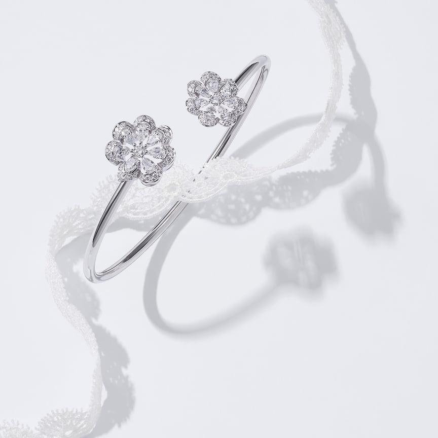 Chopard, браслет Precious Lace, белое золото, бриллианты