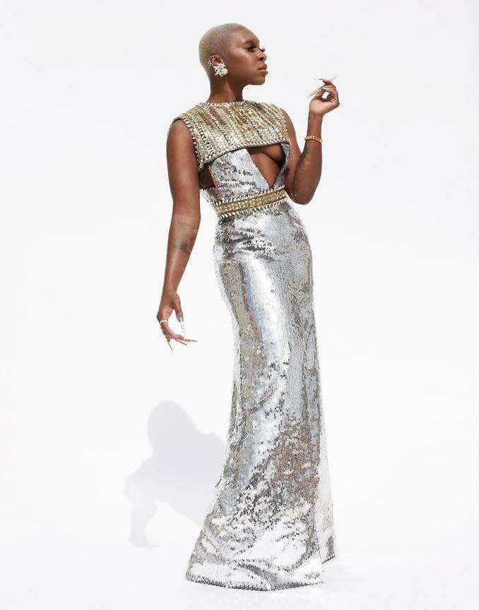 Актриса Синтия Эриво вплатье Louis Vuitton иукрашениях Tiffany &Co.