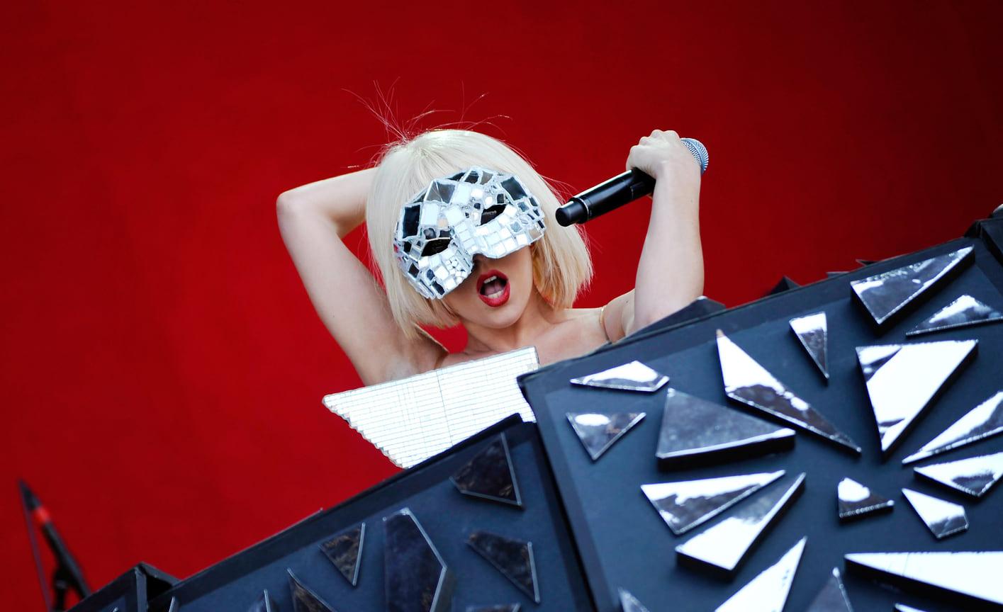 Леди Гага на фестивале T in the Park в Баладо, Шотландия, 2009 год