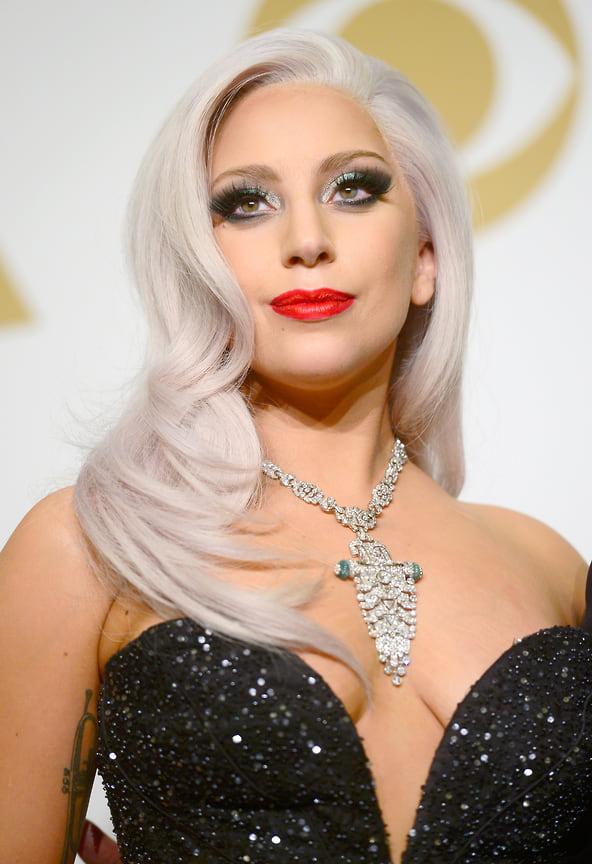 Леди Гага во время 57-й ежегодной премии «Грэмми» в Stalpes Center, Лос-Анджелес, 2015 год