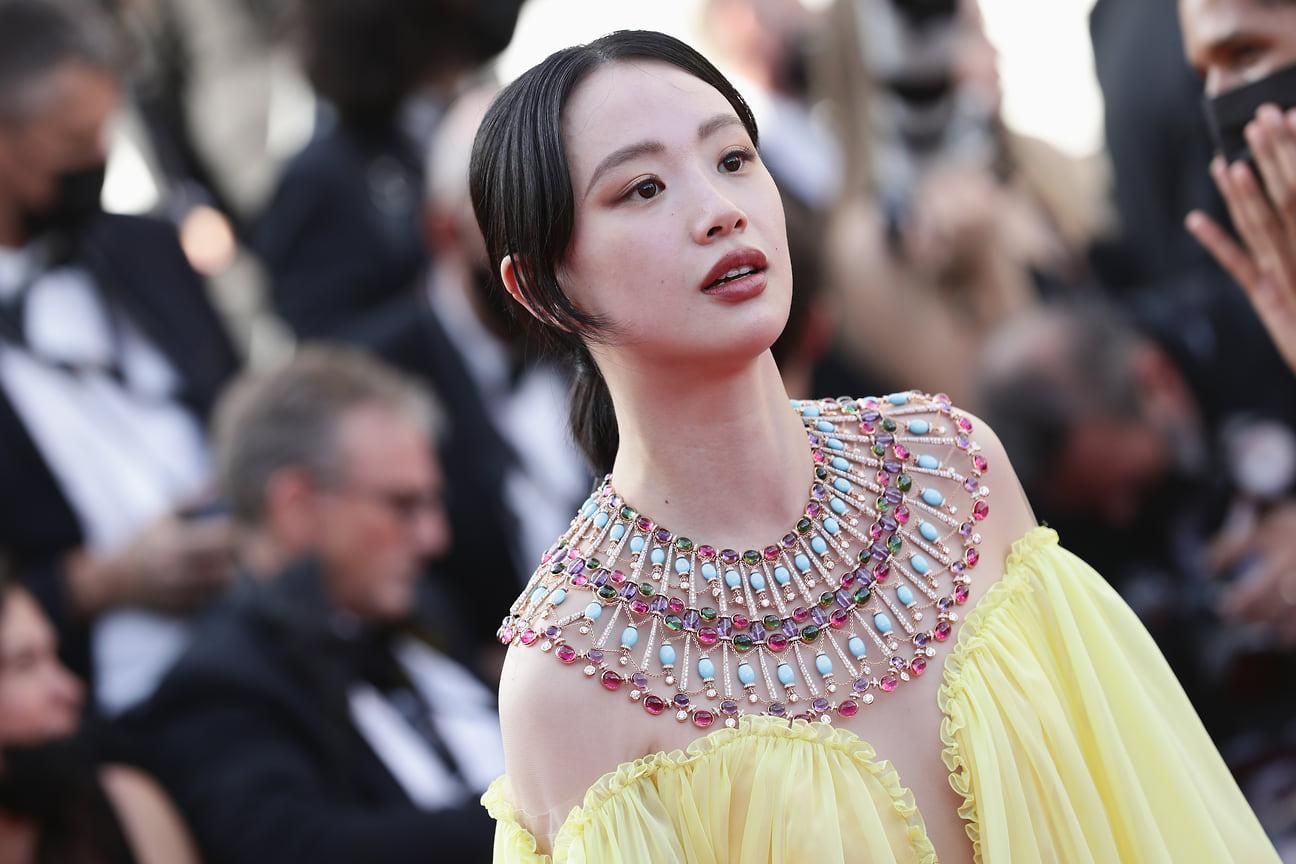 Китайская актриса Ли Менг в колье Bvlgari