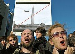 Газпромовское столпотворение заставило выйти на улицы Санкт-Петербурга тысячу горожан
