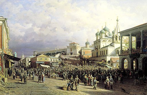Многолюдье Нижегородской ярмарки вызывало многочисленные жалобы конкурентов с других торгов и торжков
