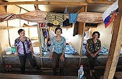 Китайский вариант деревенского барака подразумевает индивидуальное пространство для каждого проживающего