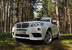 BMW X3 выглядит серьезно и внушительно не только на дороге, но и в лесу