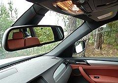 Все зеркала BMW X3 автоматически затемняются, если сзади кто-то забывает переключить дальний свет
