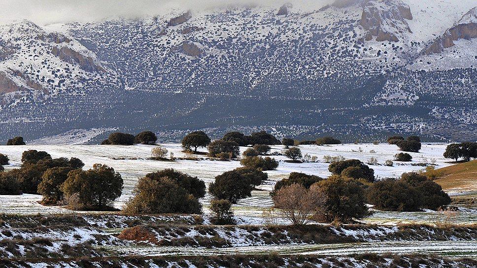 Россияне, которые скучают в Испании по снегу, могут найти его на холмах Андалузии