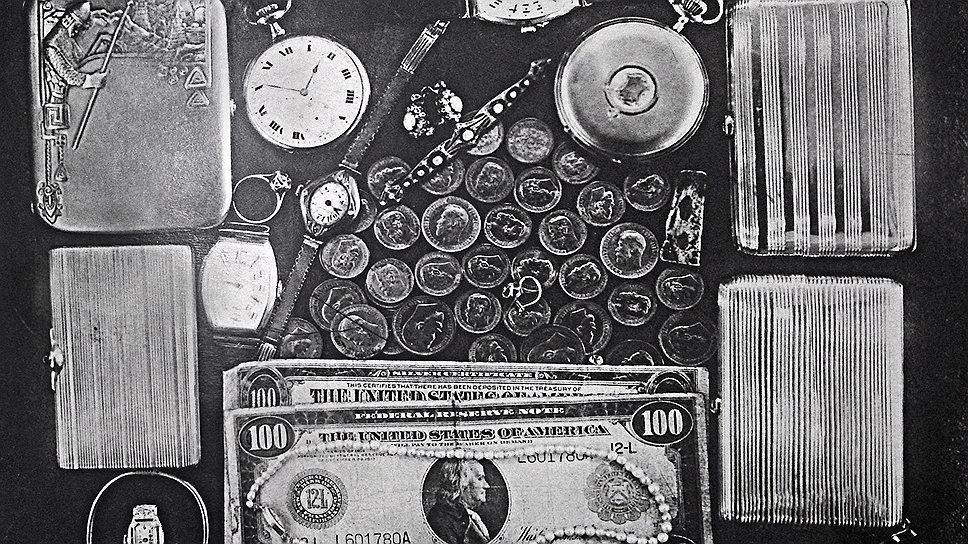 После ареста хорошо организованной группы валютчиков стали очевидными выдающиеся результаты ее работы (на фото — ценности, изъятые в 1945 году у Галкера и Бендина)