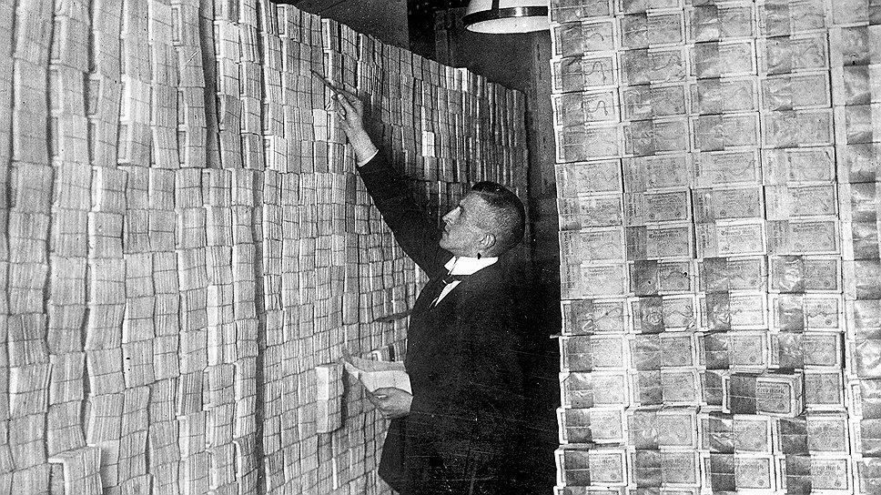 В Веймарской республике счет денег шел не на марки, а на тонны