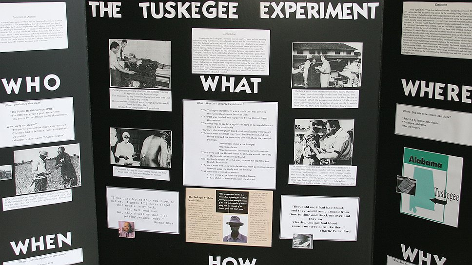Эксперимент Таскиги попал во все газеты, включая стенные, как яркий пример нарушения врачебной этики