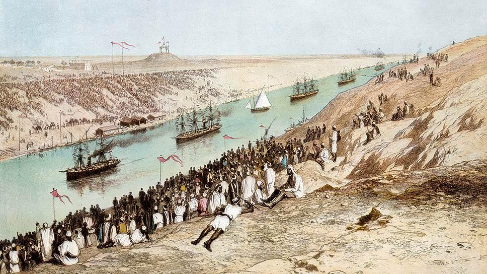 Строительство Суэцкого канала оказалось очень успешным проектом и породило завышенные ожидания прибыльности вложений на Ближнем Востоке