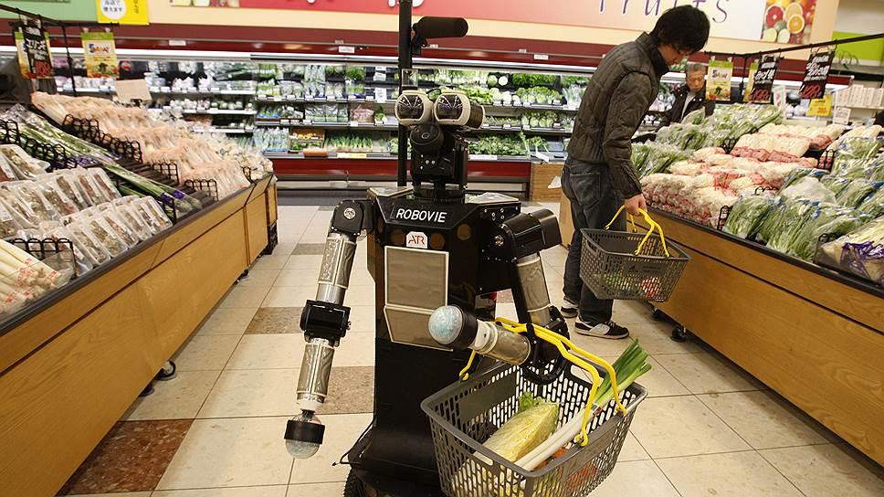 Через несколько лет роботы в супермаркетах станут обычными покупателями