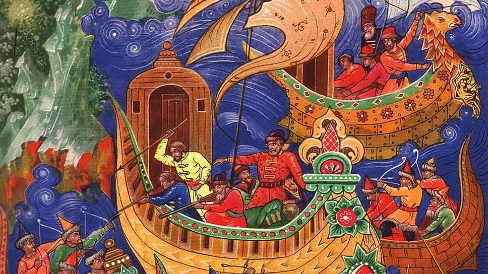 """Возникновение российской государственности было обусловлено необходимостью охраны важнейшего торгового пути Средневековья — из Скандинавии в Причерноморье (""""из варяг в греки"""")"""
