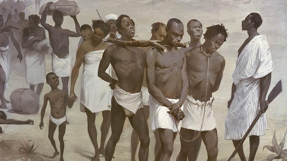 Купив у черных работорговцев товар, белые избавляли его от деревянных рогаток и заковывали в железные кандалы