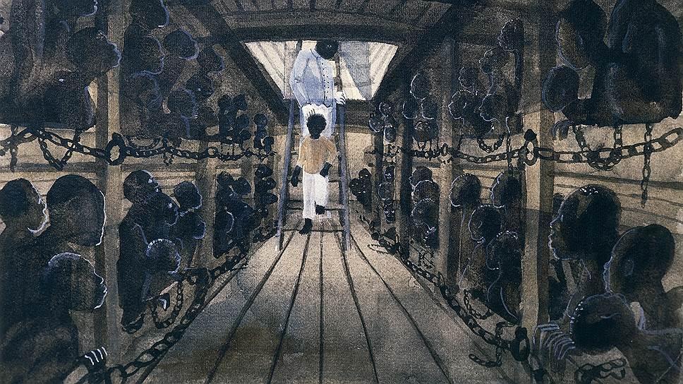 Продуманная рассадка негров в трюме, позволявшая запихнуть туда массу рабов, только способствовала их массовой гибели в пути