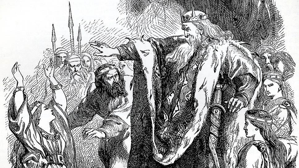 """В пьесе Шекспира """"Король Лир"""" попытка разделить королевство между наследниками поровну обернулась трагедией"""