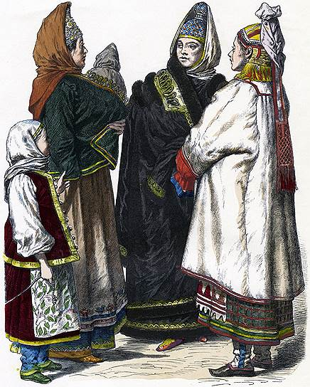 Дворянство и крестьянство различались и образом жизни, и одеждой, и методами воспитания детей
