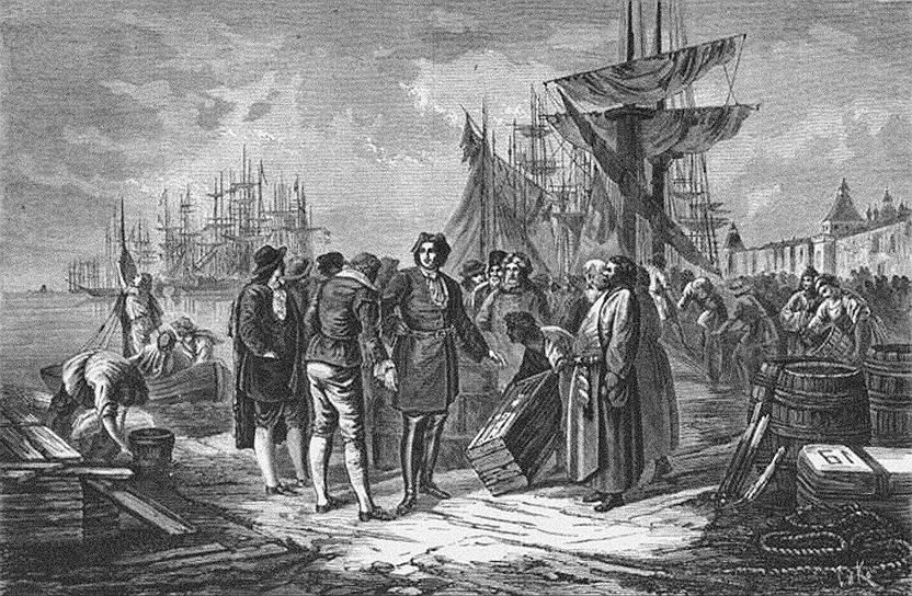 Посошков призывал Петра I минимизировать покупки иностранных товаров и всячески усложнять жизнь заморских купцов