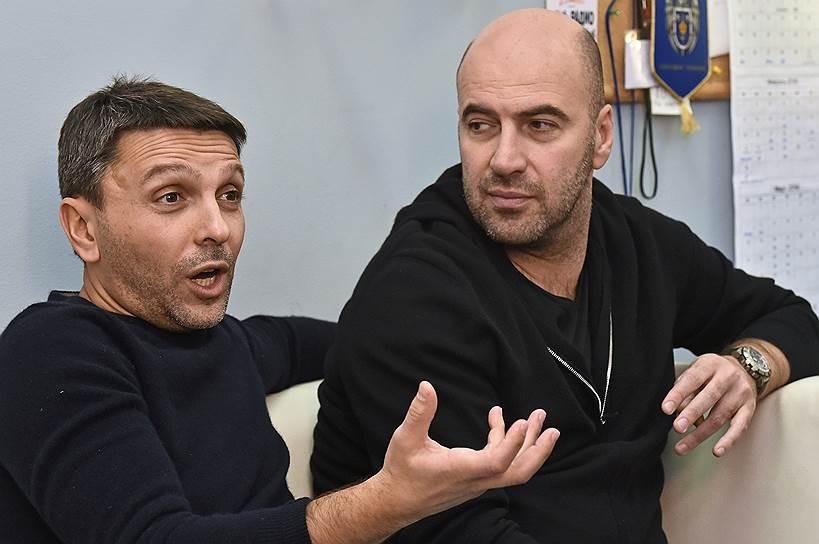 """Леонид Барац (слева) и Ростислав Хаит надеются, что сатира """"Дня выборов 2"""" не встанет кому-то поперек горла, мешая им заработать"""