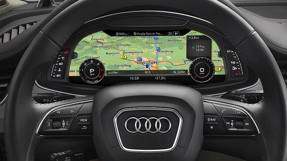 Виртуальная приборная панель может принимать вид карты с наложенной навигационной информацией