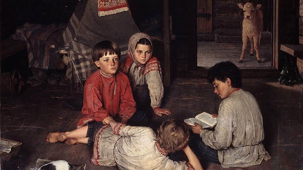 Картины Богданова-Бельского, рассказывающие о стремящихся к знанию крестьянских детях, работали как визуальная реклама идей Рачинского