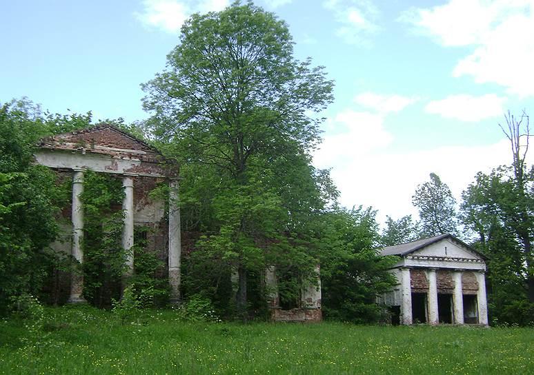 После революции усадьба Рачинского была разгромлена, и просто чудо, что до наших дней дошли хотя бы развалины