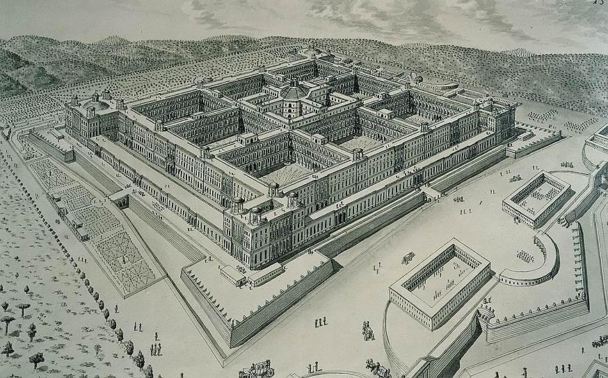 Дворец короля Неаполя и Сицилии Карла Бурбона в Казерте стал самым большим из королевских резиденций — его площадь — 235 тыс. кв. м, то есть он в 3,5 раза больше Версальского
