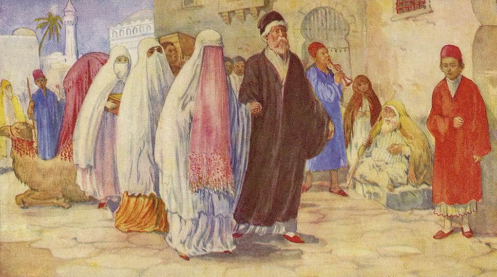 В Средней Азии жених часто не видел невесту до самой свадьбы, а взглянуть на тещу ему не позволялось и после