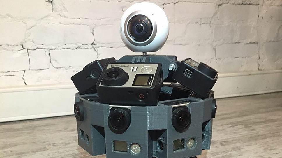 """Панорамное видео снимают похожие на роботов станции от шести до 24 камер GoPro или BlackMagic, собранные на одной передвижной платформе, либо двух- и четырехкамерные """"сборки"""" с широкоугольными объективами"""